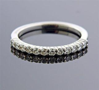 18k Gold Diamond Half Band Wedding Ring