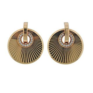 Chopard Xtravaganza 18k Rose Gold Diamond Earrings