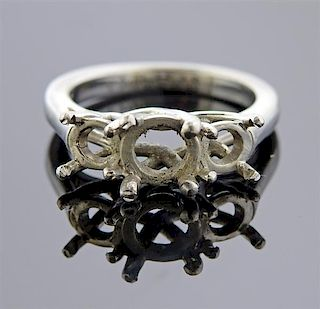 Platinum Three Stone Engagement Ring Setting