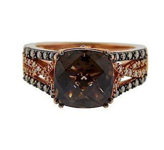 LeVian Le Vian 14k Gold Diamond Topaz Ring