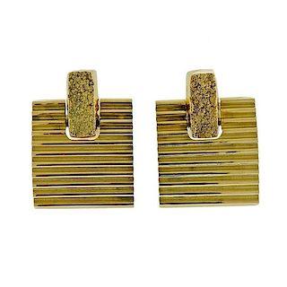 Antonio Bernardo 18k Gold Square Earrings