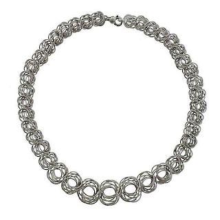 Buccellati 18k Gold Circle Link Necklace