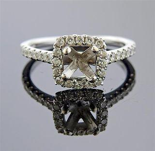 14k Gold Diamond Engagement Ring Setting