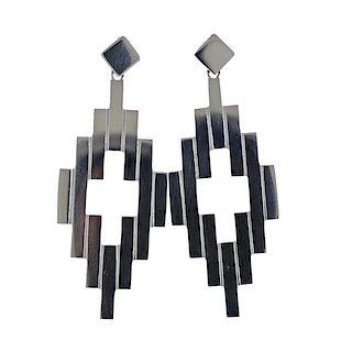 Georg Jensen Aria Sterling Silver Drop Earrings