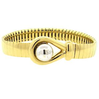 Chaumet France 18k Gold Hook  Bracelet