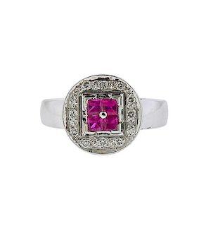 Le Vian LeVian 18k Gold Diamond Ruby Ring