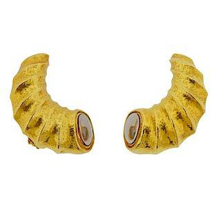 Zolotas Greece 22k Gold Earrings