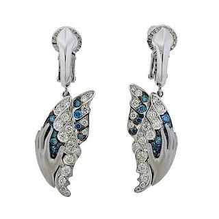 Magerit Mariposa Green Diamond 18k Gold Earrings