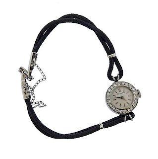 1950s Movado Platinum Diamond Lady's Watch
