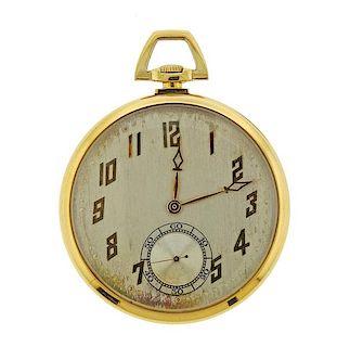 Art Deco Meylan 18k Gold Pocket Watch