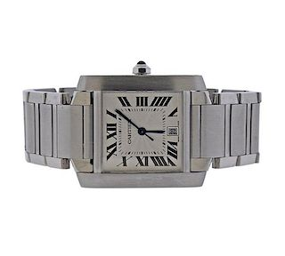 Cartier Tank Francaise Stainless Steel Automatic Watch 2302
