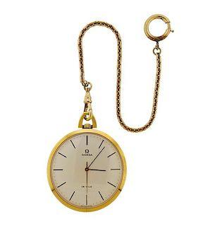 Omega De Ville 18k Gold Pocket Watch