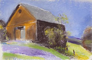 WOLF KAHN, (American, b. 1927), Richard Hamilton's Barn
