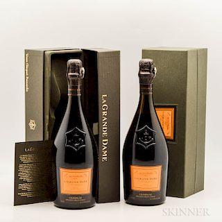 Veuve Clicquot La Grande Dame 1990, 2 bottles (ind. pc)