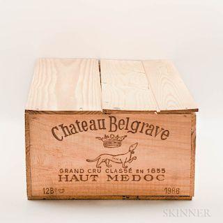 Chateau Belgrave 1986, 12 bottles (owc)