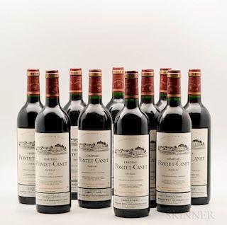 Chateau Pontet Canet 1995, 10 bottles