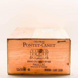 Chateau Pontet Canet 2008, 12 bottles (owc)