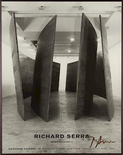 Signed Gagosian Gallery Richard Serra Poster