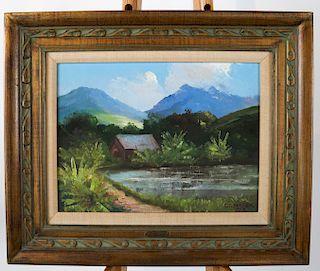 Col. Charles S. MAREK: Landscape - Oil on Panel