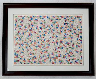 George A. CHEMECHE: Lithograph, Abstract Untitled