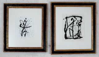 Alexander (Sasha) MARKOVICH: Two Pen & Ink Works
