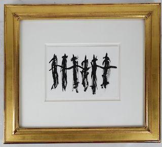 Alexander (Sasha) MARKOVICH: Dancers - Ink on Pape