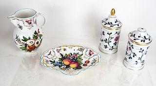 Limoges, Royal Worcester Porcelain Vessels (4)