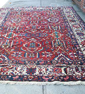 Antique Bibibaff Bakhtiari Rug