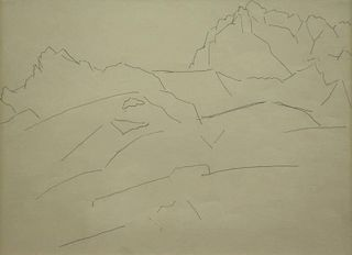 Attributed to Marsden Hartley. Pencil Drawing