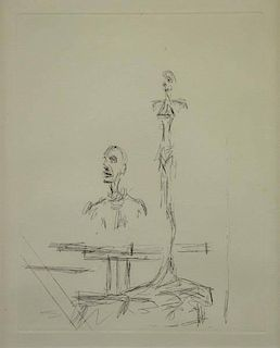 "GIACOMETTI, Alberto. Etching ""The Search""."