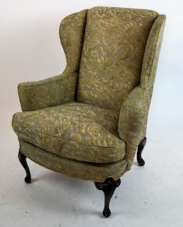 Queen Anne-Style Wing Chair, Fortuni Fabric