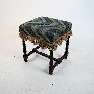 Jacobean Twist-Form Bench/Ottoman