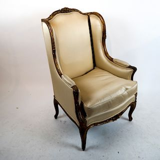 Louis XV-Style Gilt Wing Chair