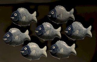 Set of Imari Fish Plates