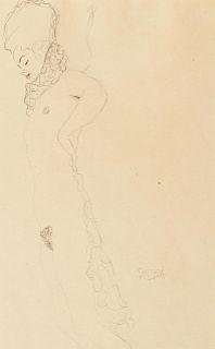 Gustav Klimt (Austrian, 1862-1918) Reclining Nude