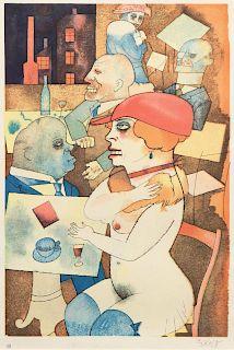 George Grosz (German, 1893-1959) Ecce Homo (a pair of works)