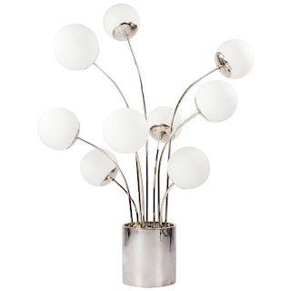 Pia Guidetti Crippa for Lumi Italia Chrome 1970s Table Lamp