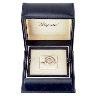 Chopard 18 Karat White Gold and Diamond 'Happy Spirit' Ring