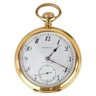 Tiffany & Co. Open Faced Pocket Watch by Agassiz & Co.