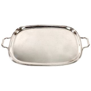 Large 19th Century American Sterling Silver Serving Tray