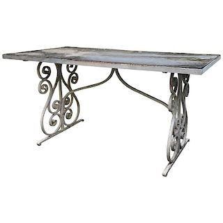 Large Early Victorian Garden Dining Table