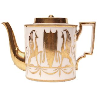 Early 19th Century Paris White Porcelain Teapot