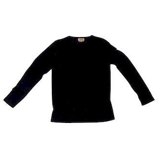 Hermes Black Round Neck Fine Cashmere Sweater