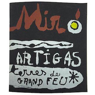 """""""Miroí Artigas Terres De Grand Feu"""" Catalogue - 1956"""