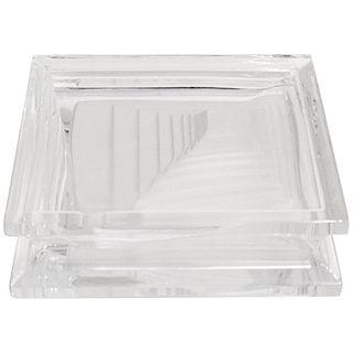 Geometric Daum Crystal Ashtray