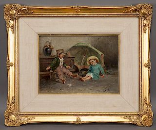 19th C. Continental oil on canvas,