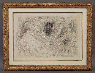 "Raoul Dufy ""Balcon sur la mer"" etching."