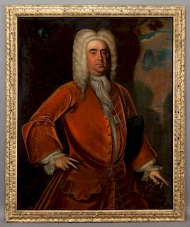 18th C. English School portrait oil on canvas.