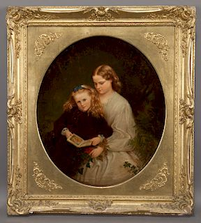 "19th C. English School ""Untitled (Sisters"