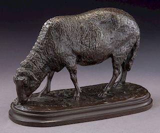 """Rosa Bonheur """"Mouton Broutant"""" bronze."""